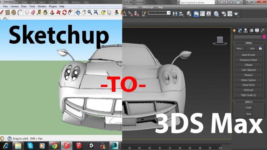 چطور مدلهای سه بعدی مکس رو به اسکچاپ انتقال بدیم ؟!