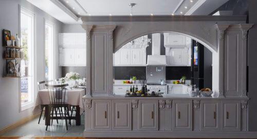 چند نکته برای طراحی آشپزخانه کلاسیک در اسکچاپ