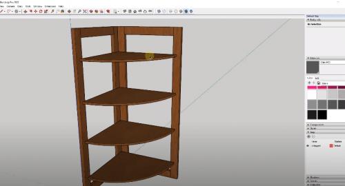آموزش مدل سازی شلف (Shelf ) در اسکچاپ