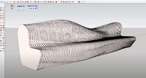 آموزش مدل سازی نیمکت به سبک ارگانیک در اسکچاپ