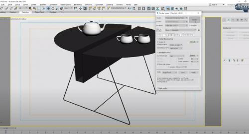 آموزش رایگان مدل سازی میز در تری دی مکس (3D Max)