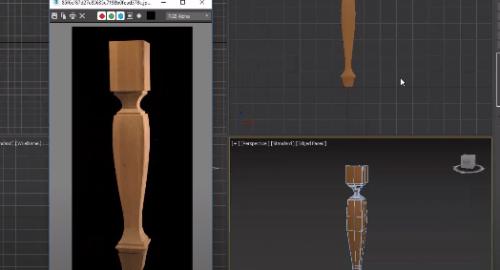 مدل سازی پایه میز چوبی در تری دی مکس (3D Max)