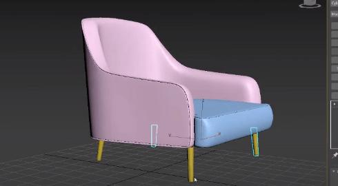 آموزش رایگان مدل سازی صندلی در تری دی مکس (3D Max)