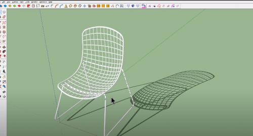 آموزش مدل سازی صندلی در اسکچاپ