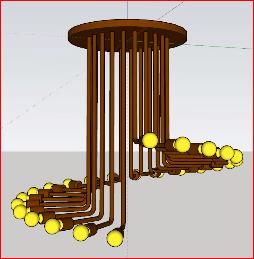 آموزش گام به گام مدلسازی لوستر در اسکچاپ