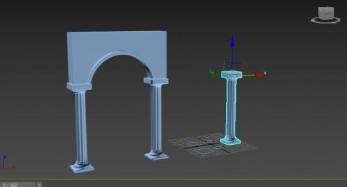آموزش رایگان تری دی مکس -مدلسازی ستون با استفاده از Loft