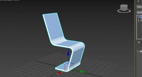 آموزش مدلسازی صندلی مدرن در تری دی مکس (3d Max )