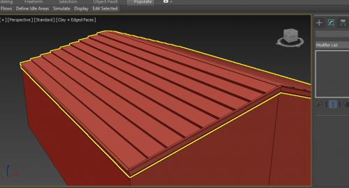 آموزش رایگان مدلسازی سقف شیب دار در تری دی مکس