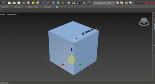 آموزش اندازه گذاری آبجکت در تری دی مکس (3d max )