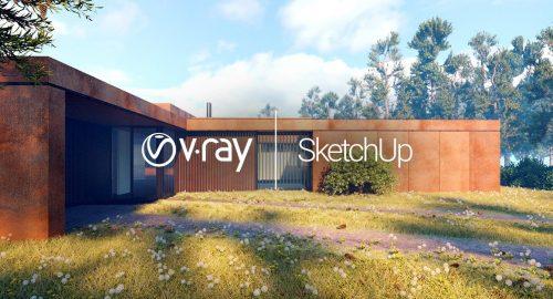 آموزش رایگان ویری اسکچاپ V-ray for Sketchup – کتابخانه متریال